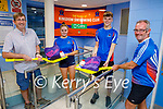 Members of the Kingdom Swimming Club receive their welcome back packs as swimming has restarted. L to r: Pat McTigue (Chairman), Ava Gannon, Cian Mason and Ger McDonnell.