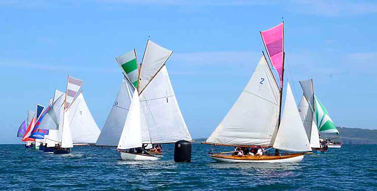 After making a perfect job of rounding the final gybe mark, Shane O'Doherty with Pauline was on his way to victory in the Howth 17 2020 Nationals.