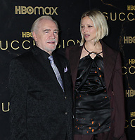 """October 12, 2021.Brian Cox, Annabelle Dexter-Jones attend HBO's """"Succession"""" Season 3 Premiere at the  American Museum of Natural History in New York October 12, 2021 Credit: RW/MediaPunch"""