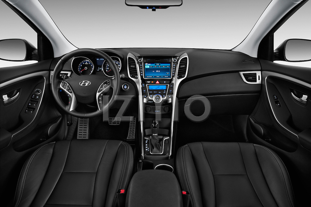 Hyundai Elantra GT Hatchback 2013 Dashboard View Stock Photo
