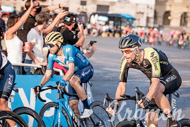 Luka Mezgec (SVN/Mitchelton Scott)<br /> finish laps around the Champs-Élysées<br /> <br /> Stage 21 from Mantes-la-Jolie to Paris (122km)<br /> <br /> 107th Tour de France 2020 (2.UWT)<br /> (the 'postponed edition' held in september)<br /> <br /> ©kramon