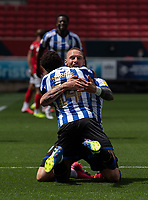 Sheffield Wednesday's Connor Wickham celebrates scoring his side's first goal with team mate Sheffield Wednesday's Jacob Murphy<br /> <br /> Photographer David Horton/CameraSport<br /> <br /> The EFL Sky Bet Championship - Bristol City v Sheffield Wednesday - Sunday 28th June 2020 - Ashton Gate Stadium - Bristol <br /> <br /> World Copyright © 2020 CameraSport. All rights reserved. 43 Linden Ave. Countesthorpe. Leicester. England. LE8 5PG - Tel: +44 (0) 116 277 4147 - admin@camerasport.com - www.camerasport.com