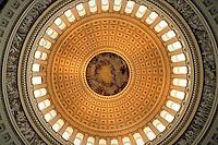 Interior view of US Capitol Dome. Washington, D.C., USA.