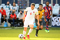 KANSAS CITY, KS - JULY 18: Samuel Piette #6 of Canada during a game between Canada and USMNT at Children's Mercy Park on July 18, 2021 in Kansas City, Kansas.