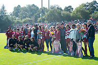 STANFORD, CA - October 21, 2018: Michelle Xiao, Tegan McGrady, Jordan DiBiasi, Alana Cook, Averie Collins at Laird Q. Cagan Stadium. No. 1 Stanford Cardinal defeated No. 15 Colorado Buffaloes 7-0 on Senior Day.