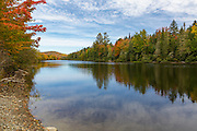 Androscoggin River, within Thirteen Mile Woods, along Route 16, in Errol, New Hampshire USA during the autumn months.