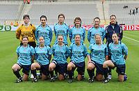 15 Mei 2010 Bekerfinale vrouwen : Sinaai Girls - RSC Anderlecht  : Langeraert , Van Rooy , Van Broeck , De Pelsmaeker , Lefebvre , de Blaeij , Vanderstappen , Windey , De Wulf , Marchal , Stevens  .foto DAVID CATRY / Vrouwenteam.be