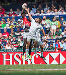 Kenya vs France on Day 3 of the 2012 Cathay Pacific / HSBC Hong Kong Sevens at the Hong Kong Stadium in Hong Kong, China on 25th March 2012. Photo © Manuel Queimadelos / PSI for FastTrack HSBC