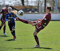 Dames Club Brugge - SV Zulte Waregem : Helene Delebarre.foto DAVID CATRY / Nikonpro.be