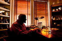 Crime Novelist Lawrence Block at Home in New York