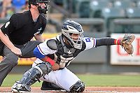 Round Rock Express right fielder Tomas Telis (25) during pacific coast league baseball game, Friday August 15, 2014 in Round Rock, Tex. Reno defeats Round Rock 11-9 to sweep three game series. (Mo Khursheed/TFV Media via AP Images)