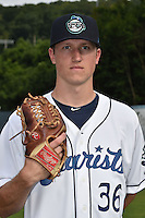 Asheville Tourists pitcher Kyle Freeland #36 before a game against the West Virginia Power at McCormick Field August 8, 2014 in Asheville, North Carolina. The Power defeated the Tourists 2-1. (Tony Farlow/Four Seam Images)