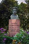 France, Alsace, Haut-Rhin, Kaysersberg: bust of Dr. Albert Schweitzer, his native town | Frankreich, Elsass, Haut-Rhin, Kaysersberg: Bueste von Dr. Albert Schweitzer, Sohn der Stadt