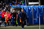 Ipswich Town 0, Oxford United 1, 22/02/2020. Portman Road, SkyBet League One. The two opposing managers, Paul Lambert, left, and the visitor's Carl Robinson emerging for the second-half as Ipswich Town play Oxford United in a SkyBet League One fixture at Portman Road. Both teams were in contention for promotion as the season entered its final months. The visitors won the match 1-0 through a 44th-minute Matty Taylor goal, watched by a crowd of 19,363. Photo by Colin McPherson.