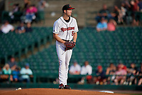 Rochester Red Wings pitcher Sean Poppen (59) during an International League game against the Scranton/Wilkes-Barre RailRiders on June 24, 2019 at Frontier Field in Rochester, New York.  Rochester defeated Scranton 8-6.  (Mike Janes/Four Seam Images)