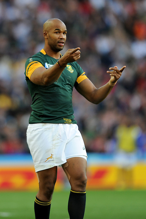 JP Pietersen of South Africa during Match 15 of the Rugby World Cup 2015 between South Africa and Samoa - 26/09/2015 - Villa Park, Birmingham<br /> Mandatory Credit: Rob Munro/Stewart Communications