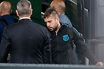 Jordi Alba arrives at the team hotel the day before UEFA Champions League match between Atletico de Madrid and FC Barcelona at Hotel Eurostars in Madrid. April 13, 2016. (ALTERPHOTOS/Borja B.Hojas)