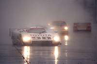 #98 Toyota Eagle MkIII, P.J. Jones, Rocky Moran, races in the rain to a 3rd place finish, 12 Hours of Sebring, Sebring International Raceway, Sebring, FL, March 20, 1993.(Photo by Brian Cleary/bcpix.com)