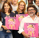 Tina Fey, Nell Benjamin and Jeff Richmond attend the 'Mean Girls' Original Broadway Cast Linyl Release at the Herald Square Urban Outfitters' on August 28, 2018 in New York City.