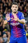 Luis Alberto Suarez Diaz of FC Barcelona gestures during the UEFA Champions League 2017-18 quarter-finals (1st leg) match between FC Barcelona and AS Roma at Camp Nou on 05 April 2018 in Barcelona, Spain. Photo by Vicens Gimenez / Power Sport Images