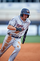 Lakeland Flying Tigers second baseman Will Maddox (3) running the bases during a game against the Charlotte Stone Crabs on April 16, 2017 at Charlotte Sports Park in Port Charlotte, Florida.  Lakeland defeated Charlotte 4-2.  (Mike Janes/Four Seam Images)