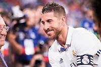 Real Madrid's player Sergio Ramos during the XXXVII Santiago Bernabeu Trophy in Madrid. August 16, Spain. 2016. (ALTERPHOTOS/BorjaB.Hojas) /NORTEPHOTO