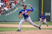 New York Mets pitcher Dario Alvarez (68) during a Spring Training game against the Boston Red Sox on March 16, 2015 at JetBlue Park at Fenway South in Fort Myers, Florida.  Boston defeated New York 4-3.  (Mike Janes/Four Seam Images)
