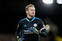 3rd February 2021; Craven Cottage, London, England; English Premier League Football, Fulham versus Leicester City; Goalkeeper Kasper Schmeichel of Leicester City