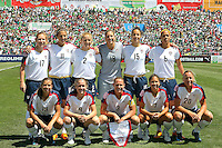 USA starting eleven team prior to the USA's 3-1 win vs Mexico in Group A of the 2008 CONCACAF Olympic Women's Qualifying Tournament  in Ciudad Juarez, Mexico, April 6, 2008.