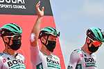 Pascal Ackermann (GER) and Bora-Hansgrohe at sign on before the start of Stage 6 of the 2021 UAE Tour running 165km from Deira Island to Palm Jumeirah, Dubai, UAE. 26th February 2021.<br /> Picture: LaPresse/Gian Mattia D'Alberto   Cyclefile<br /> <br /> All photos usage must carry mandatory copyright credit (© Cyclefile   LaPresse/Gian Mattia D'Alberto)