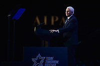 Washington, DC - March 2, 2020: U.S Vice President Mike Pence addresses attendees of the AIPAC Policy Conference at the Washington Convention Center March 2, 2020.  (Photo by Don Baxter/Media Images International)