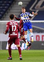 30th April 2021; Dragao Stadium, Porto, Portugal; Portuguese Championship 2020/2021, FC Porto versus Famalicao; Toni Martinez of FC Porto wins the clearing header