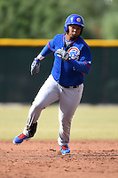 Chicago Cubs outfielder Kevin Encarnacion (44) during an Instructional League intersquad game on October 9, 2014 at Cubs Park Complex in Mesa, Arizona.  (Mike Janes/Four Seam Images)