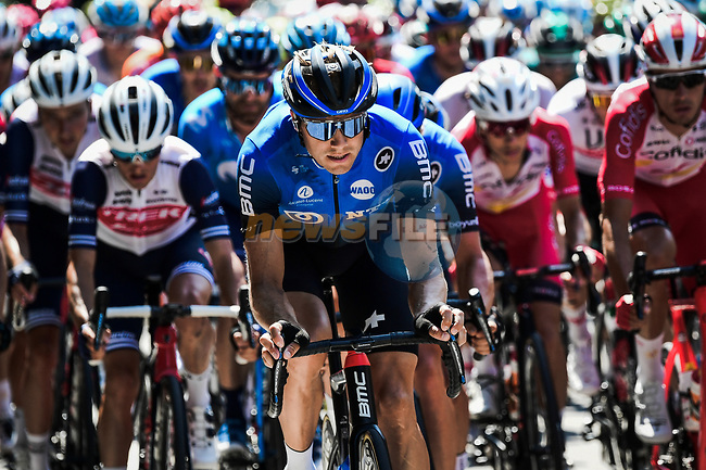The peloton including Edvald Boassen Hagen (NOR) NTT Pro Cycling Team during Stage 2 of Criterium du Dauphine 2020, running 135km from Vienne to Col de Porte, France. 13th August 2020.<br /> Picture: ASO/Alex Broadway | Cyclefile<br /> All photos usage must carry mandatory copyright credit (© Cyclefile | ASO/Alex Broadway)