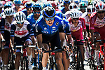The peloton including Edvald Boassen Hagen (NOR) NTT Pro Cycling Team during Stage 2 of Criterium du Dauphine 2020, running 135km from Vienne to Col de Porte, France. 13th August 2020.<br /> Picture: ASO/Alex Broadway   Cyclefile<br /> All photos usage must carry mandatory copyright credit (© Cyclefile   ASO/Alex Broadway)