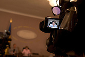Kiev, Ukraine.July 18, 2005 ..Ukrainian Prime Minister Yulia Teminchenko holds a press conference..