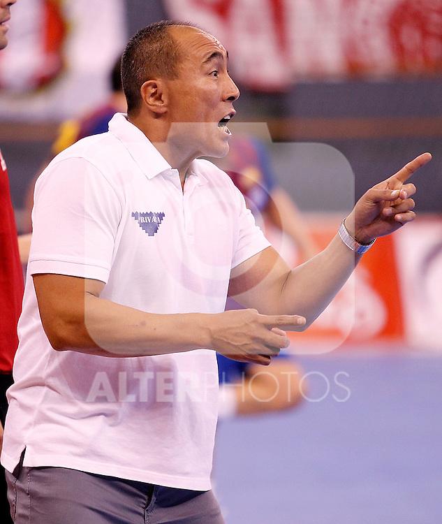 Balonmano Atletico de Madrid's coach Talant Dujshebaev during Spanish Handball Supercup match.September 4,2011. (ALTERPHOTOS/Acero)
