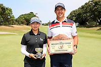 Denzel Ieremai and Fiona Xu win the Charles Tour, Christies Flooring Mt Maunganui Open, Mt Maunganui Golf Club, Tauranga, New Zealand. Sunday 15 December 2019. Photo: Simon Watts/www.bwmedia.co.nz/NZGolf