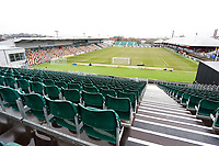 A general view of the temporary stands at Rodney Parade prior to kick off of the Fly Emirates FA Cup Fourth Round match between Newport County and Tottenham Hotspur at Rodney Parade, Newport, Wales, UK. Saturday 27 January 2018