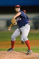 Potomac relief pitcher Adam Carr (34) in action versus Winston-Salem at Ernie Shore Field in Winston-Salem, NC, Thursday, August 2, 2007.