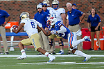 Tulsa Golden Hurricane wide receiver Keenen Johnson (8) in action during the game between the Tulsa Golden Hurricanes and the SMU Mustangs at the Gerald J. Ford Stadium in Fort Worth, Texas.