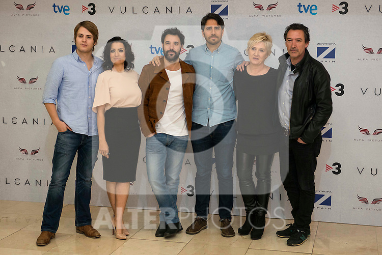 """The cast and the director of the film during the presentation of the film """"Vulcania"""" at Cines Princesa in Madrid, February 29, 2016<br /> (ALTERPHOTOS/BorjaB.Hojas)"""