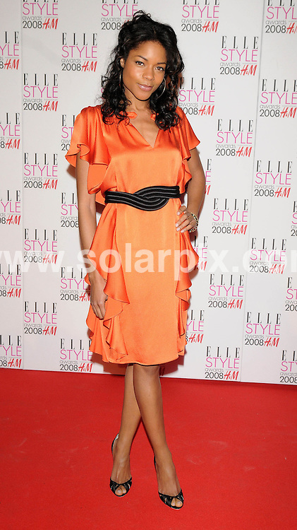 **ALL ROUND PICTURES FROM SOLARPIX.COM**.**WORLDWIDE SYNDICATION RIGHTS**.Celebrities arrive for the Elle Style Awards at The Roundhouse, London. 12th February 2008..This pic: Naomie Harris..JOB REF: 5777 ATM     DATE: 12_02_2008.**MUST CREDIT SOLARPIX.COM OR DOUBLE FEE WILL BE CHARGED* *UNDER NO CIRCUMSTANCES IS THIS IMAGE TO BE REPRODUCED FOR ANY ONLINE EDITION WITHOUT PRIOR PERMISSION*
