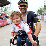 Pix: Shaun Flannery/shaunflanneryphotography.com<br /> <br /> COPYRIGHT PICTURE>>SHAUN FLANNERY>01302-570814>>07778315553>><br /> <br /> 19th June 2016<br /> Doncaster Cycle Festival 2016<br /> Whinfrey Briggs Elite Men's Race<br /> Sponsored by Whinfrey Briggs<br /> Graham Briggs with son