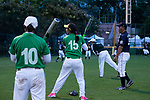 Players of Japanese and Pakistanis Teams changing interactions and knowledge during the BFA Women's Baseball Asian Cup match between Pakistan and Japan at Sai Tso Wan Recreation Ground on September 4, 2017 in Hong Kong. Photo by Marcio Rodrigo Machado / Power Sport Images