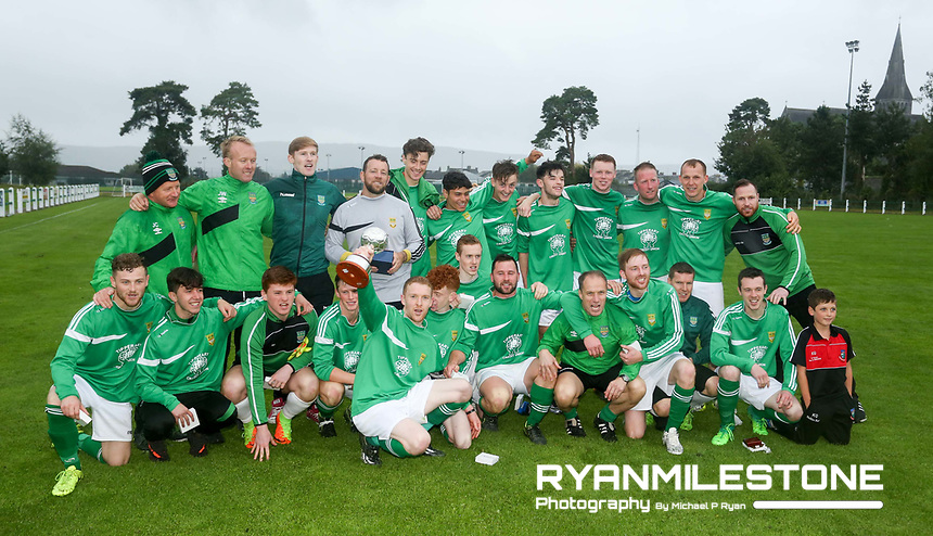 John Delaney Cup Final: St Michael's AFC vs Peake Villa FC, Sunday 13th August 2017, Cooke Park, Tipperary Town, Credit: Michael P Ryan