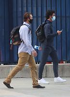 WASHINGTON, D.C. - APRIL 7: Members of the Atlanta Braves seen exiting Nationals Park  on April 7 2021 in Washington, D.C. Credit: mpi34/MediaPunch