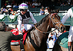 LEXINGTON, KY - APRIL 15: #2 Miss Temple City and jockey Drayden Van Dyke win the 28th running of The Maker's 46 Mile (Grade 1) $300,000 at Keeneland race course for owner Sagamore Farm (Kevin Plank), Allen Rosenblum, and The Club Racing LLC (Aaron Jutte), and trainer Graham Motion. April 15, 2016 in Lexington, Kentucky. (Photo by Candice Chavez/Eclipse Sportswire/Getty Images)