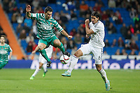 Real Madrid´s Sami Khedira (R) and Cornella´s Dani Marti duringSpanish King Cup match between Real Madrid and Cornella at Santiago Bernabeu stadium in Madrid, Spain.December 2, 2014. (NortePhoto/ALTERPHOTOS/Victor Blanco)