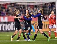Sandy, UT - October 19, 2016: The USWNT take a 2-0 lead over Switzerland with Tobin Heath contributing a goal in second half action during an international friendly game at Rio Tinto Stadium.